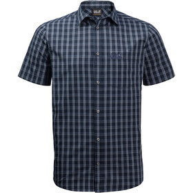 Jack Wolfskin Hot Springs Kurzarmshirt Herren night blue checks